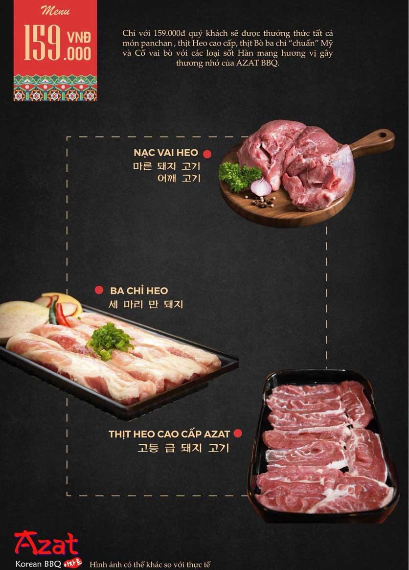 Menu AZAT BBQ - Xã Đàn 3