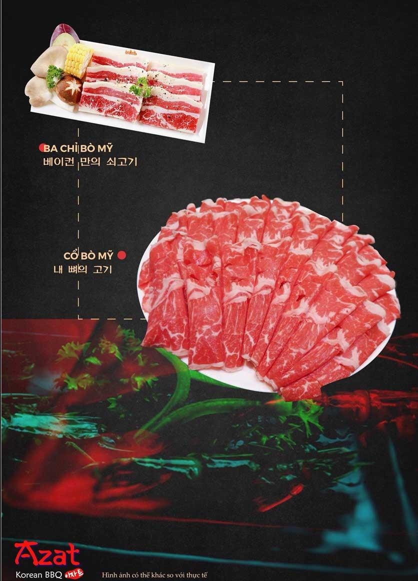 Menu AZAT BBQ - Xã Đàn 4
