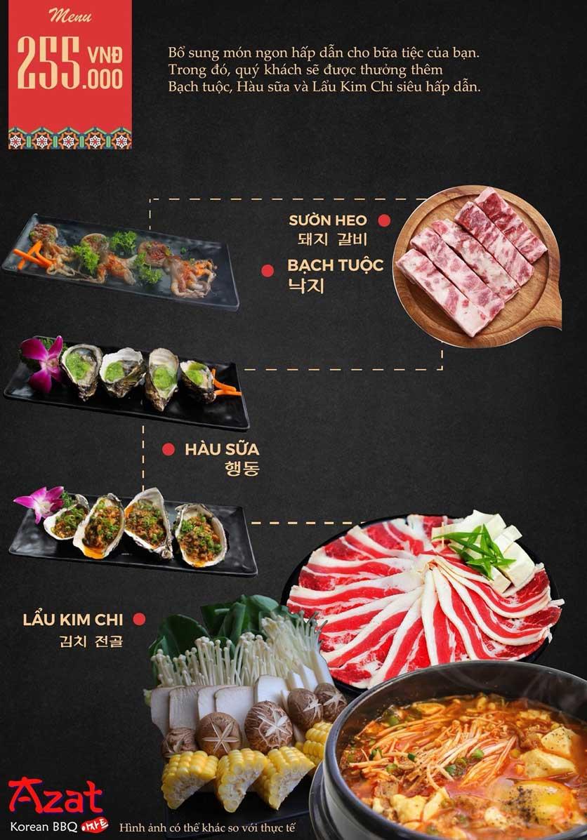 Menu AZAT BBQ - Xã Đàn 5