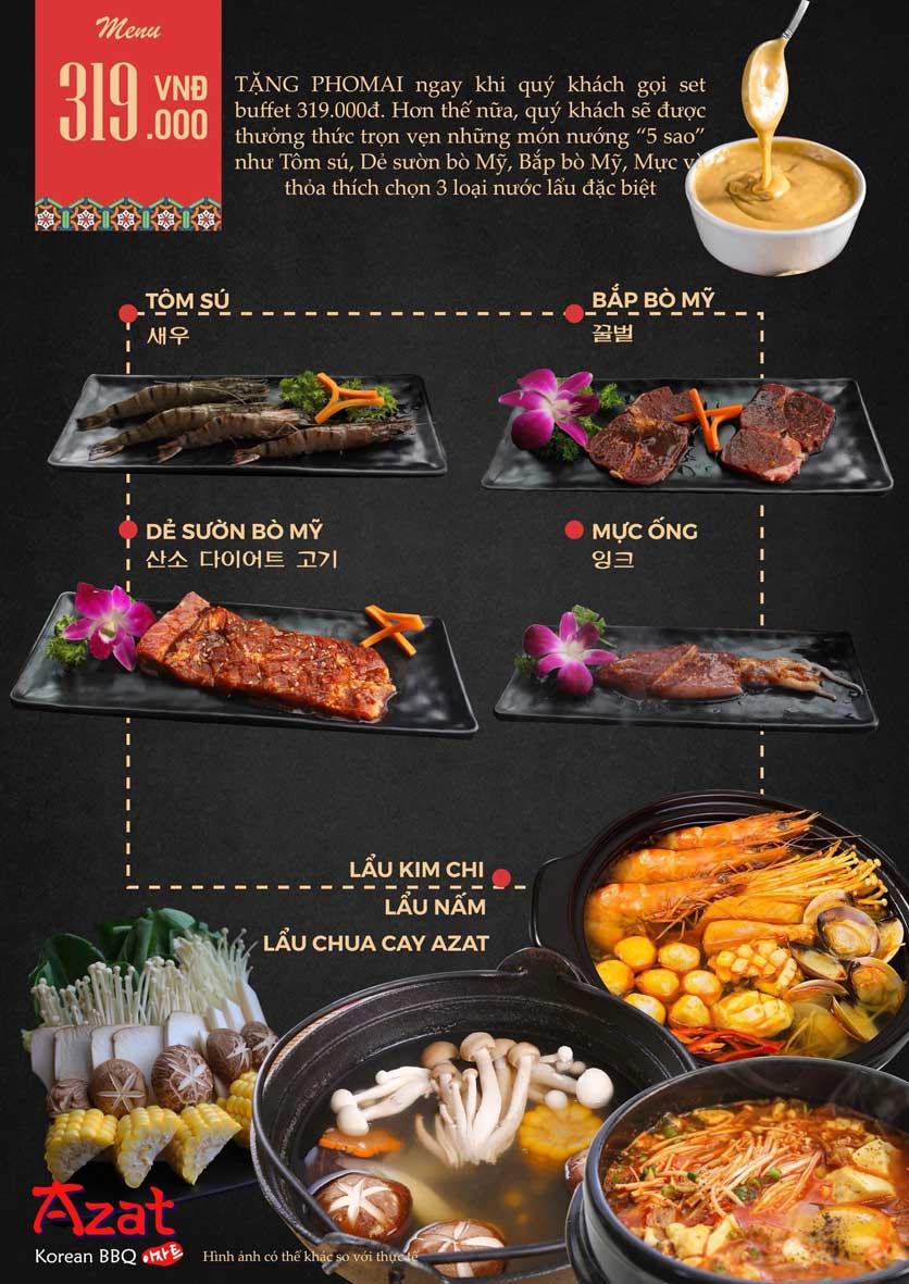 Menu AZAT BBQ - Xã Đàn 6