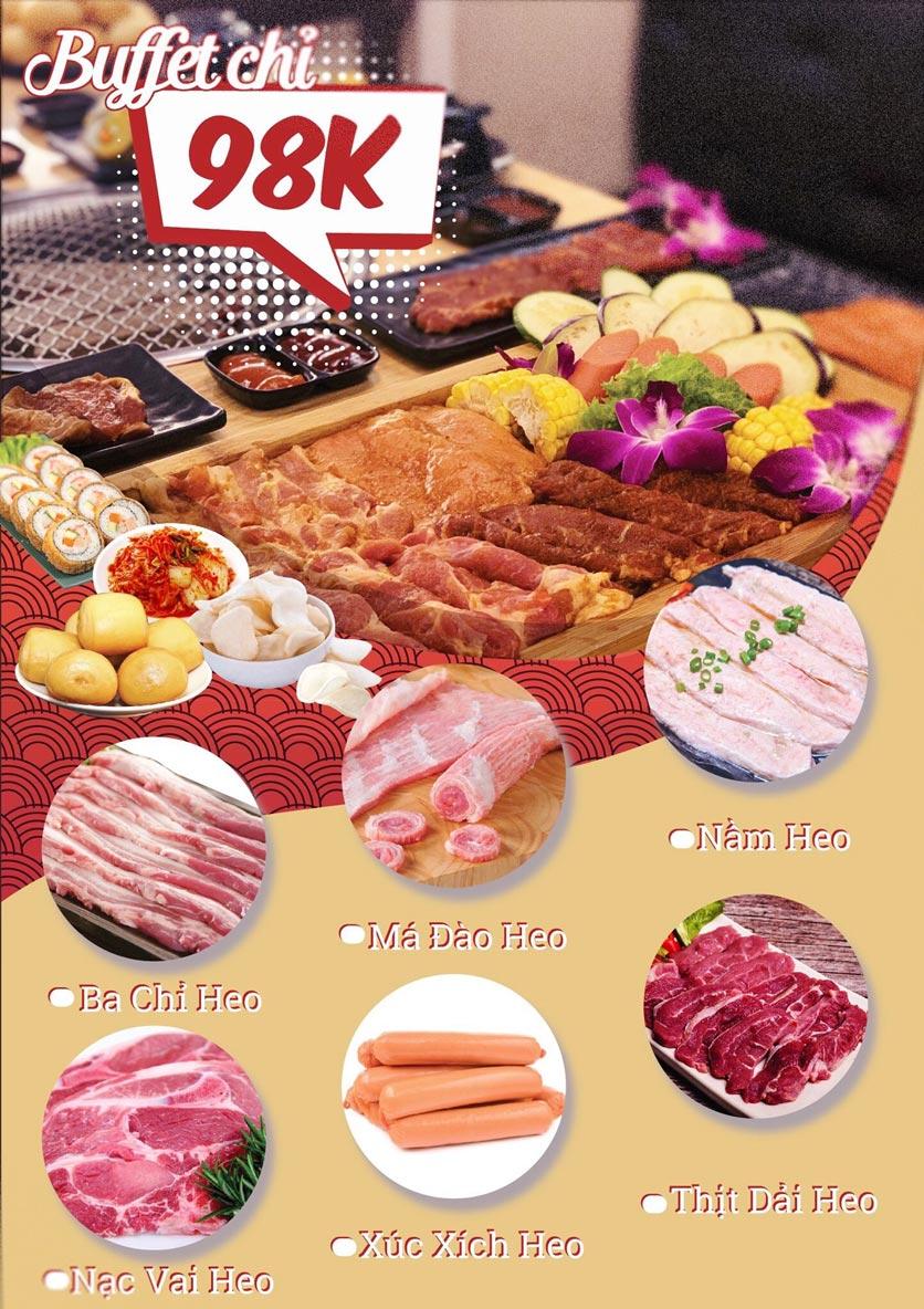 Menu AZAT BBQ - Xã Đàn 1