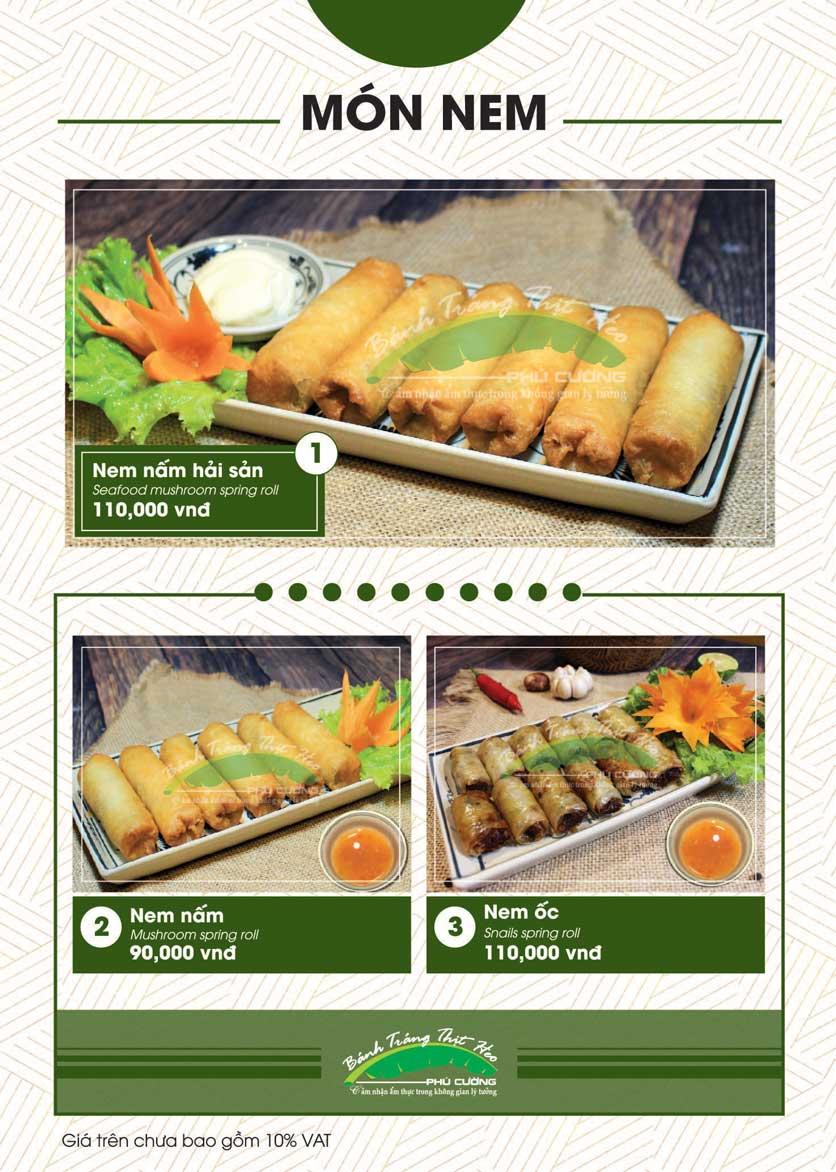 Menu Bánh Tráng Thịt Heo - Hà Đông  10