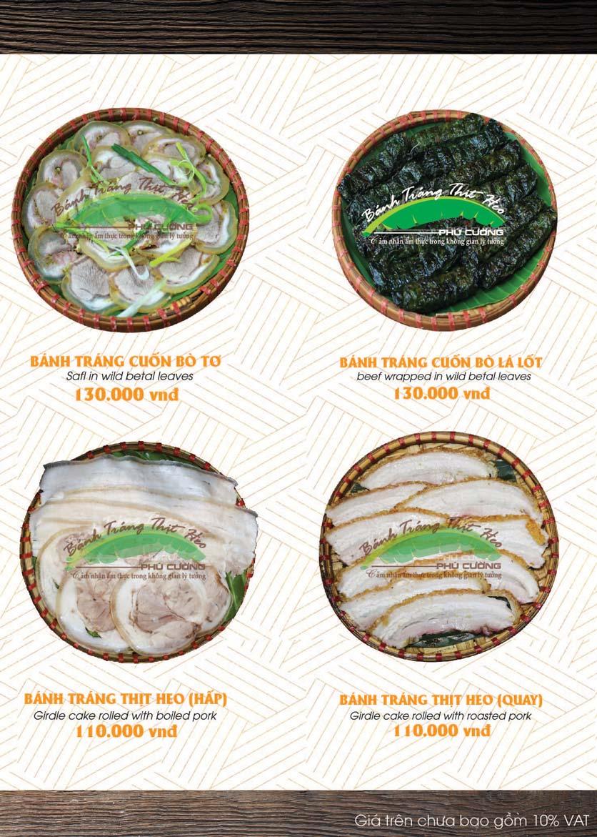 Menu Bánh Tráng Thịt Heo - Hà Đông  2