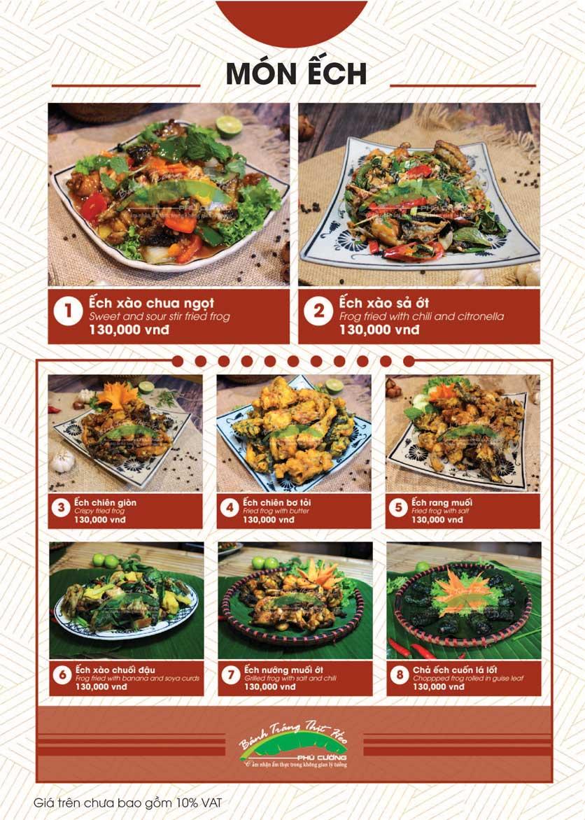 Menu Bánh Tráng Thịt Heo - Hà Đông  20