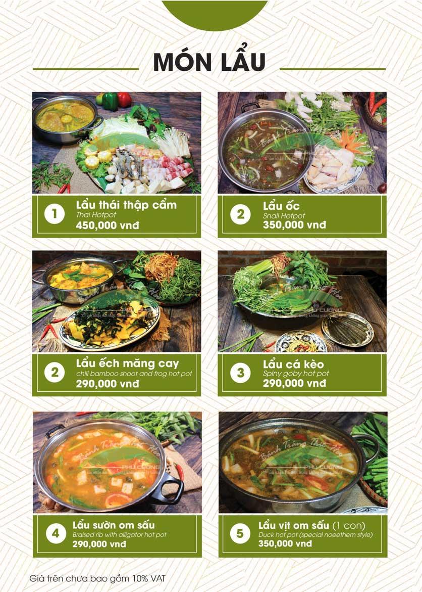 Menu Bánh Tráng Thịt Heo - Hà Đông  29