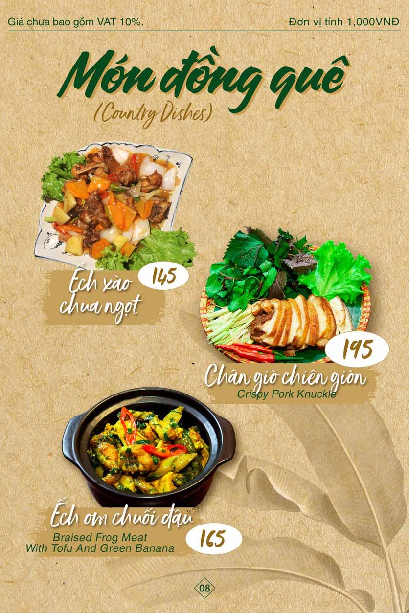 Menu Bánh Tráng Thịt Heo Giang Mỹ - Hoàng Đạo Thúy 8