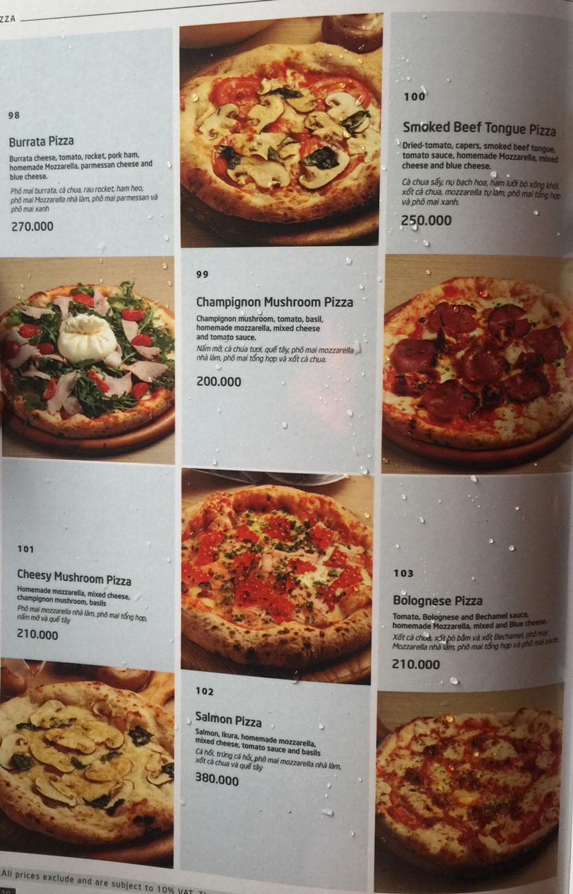 Menu Basta Hiro - Pizza & Pasta - Vincom Mega Mall Thảo Điền   16