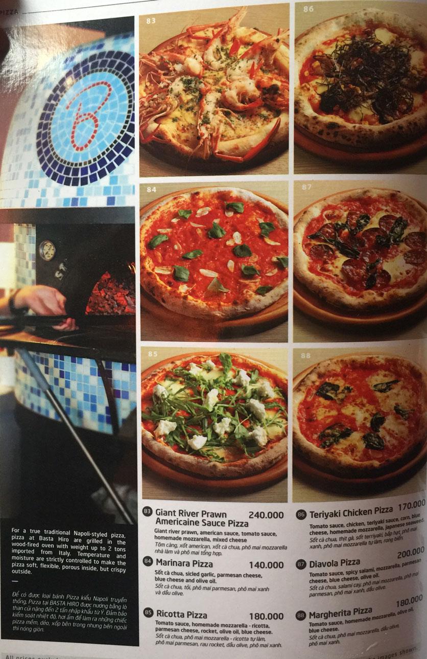 Menu Basta Hiro - Pizza & Pasta - Vincom Mega Mall Thảo Điền   17