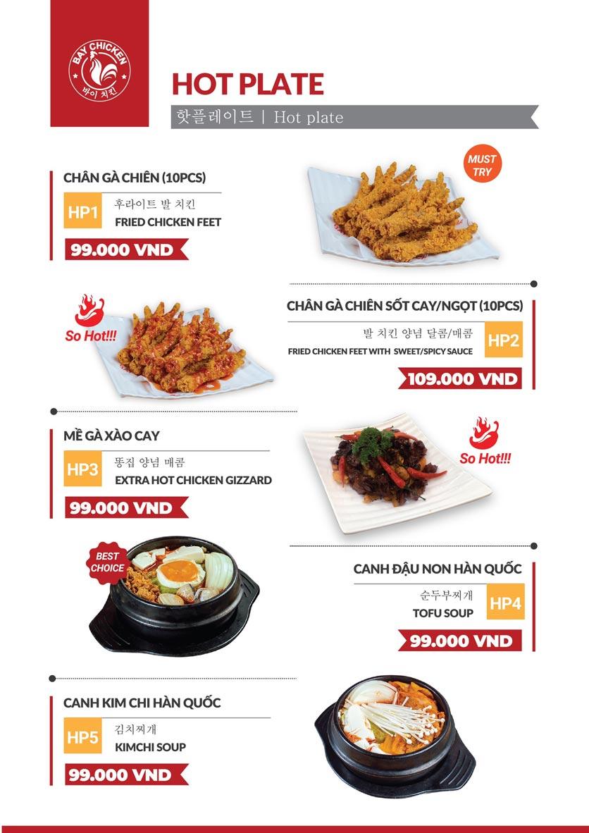 Menu Bay Chicken - Gà rán Hàn Quốc - Hàng Bún 4