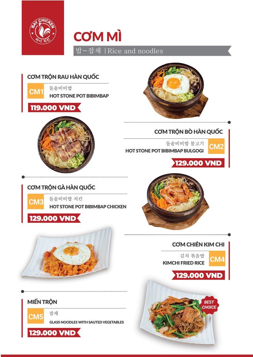 Menu Bay Chicken - Gà rán Hàn Quốc - Hàng Bún 5