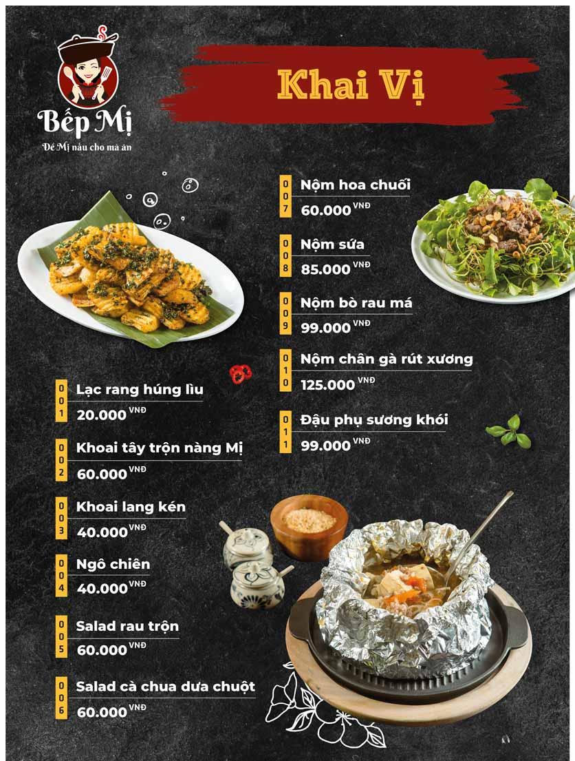 Menu Bếp Mị - Nguyễn Lương Bằng 4
