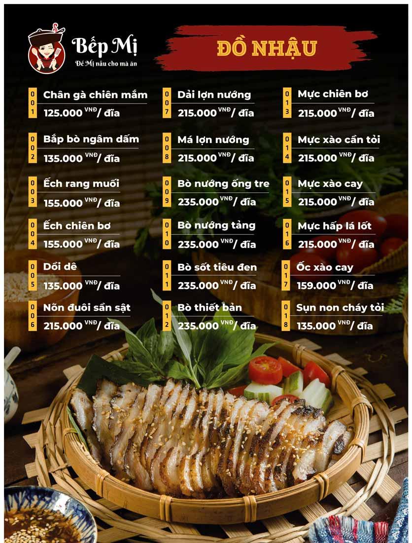Menu Bếp Mị - Nguyễn Lương Bằng 5