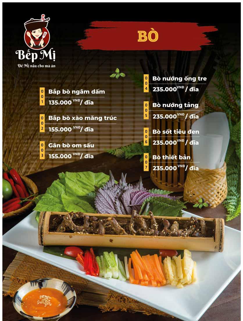 Menu Bếp Mị - Nguyễn Lương Bằng 7