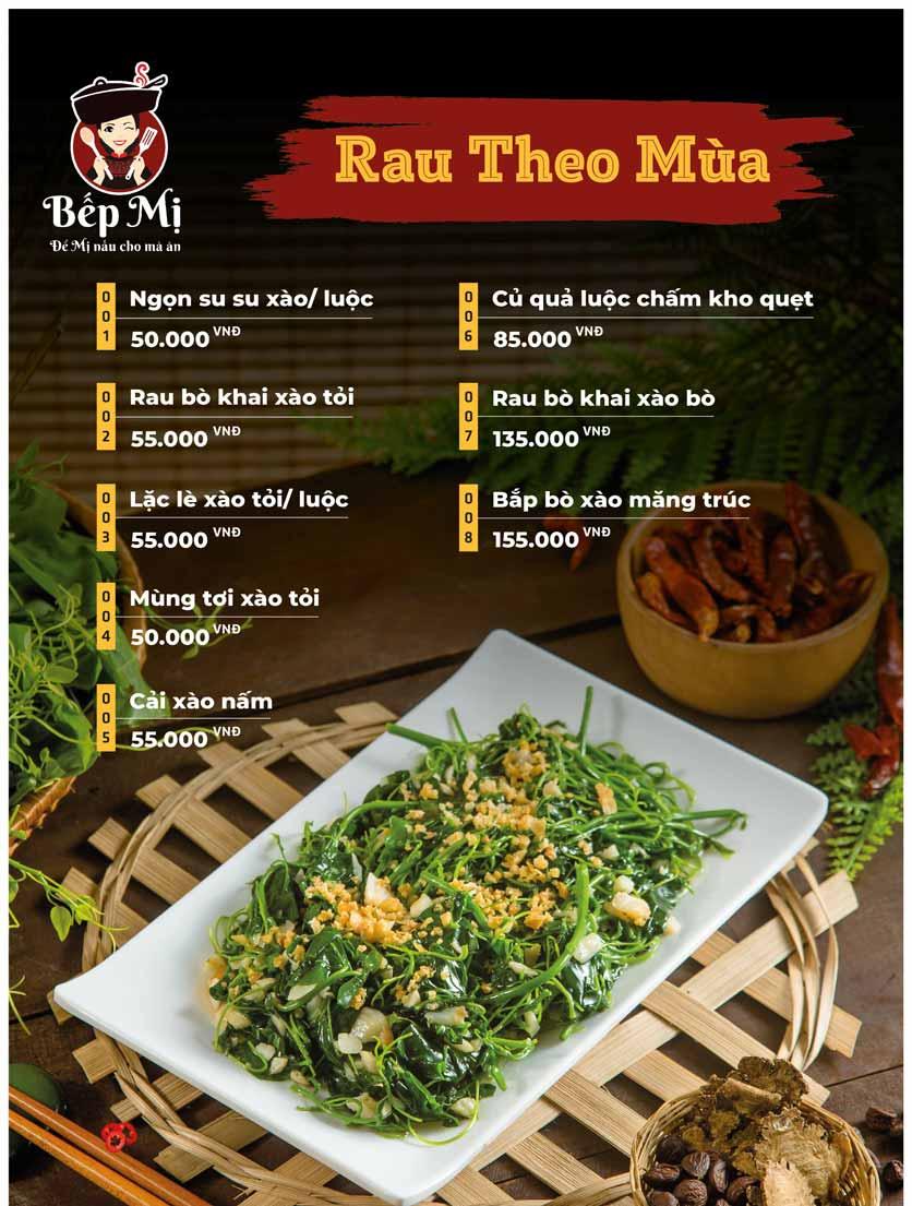 Menu Bếp Mị - Nguyễn Lương Bằng 12