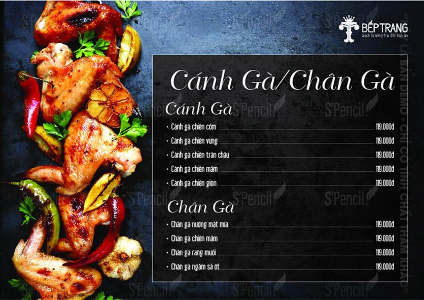Menu Bếp Trang Restaurant  - Vũ Trọng Khánh 1