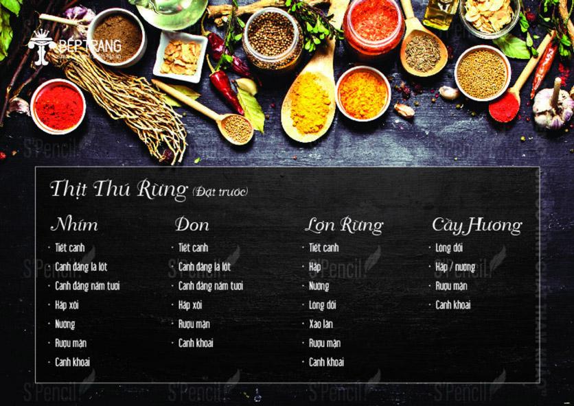 Menu Bếp Trang Restaurant  - Vũ Trọng Khánh 13