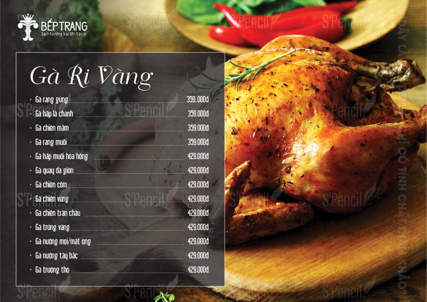 Menu Bếp Trang Restaurant  - Vũ Trọng Khánh 15