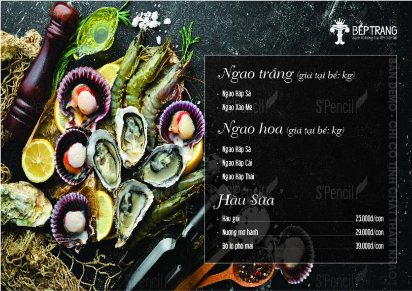 Menu Bếp Trang Restaurant  - Vũ Trọng Khánh 3