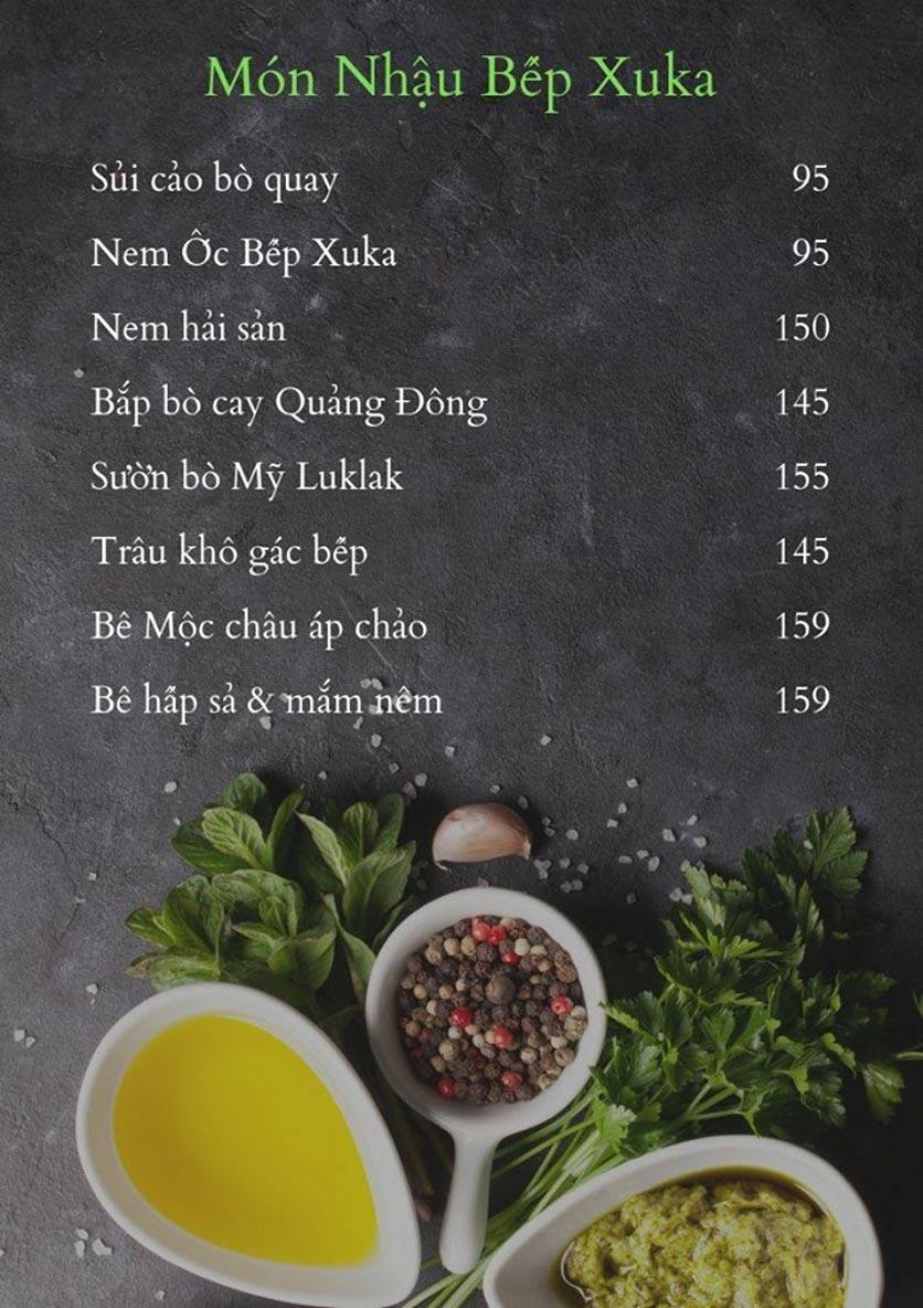 Menu Bếp Xuka - Hoàng Ngân 2