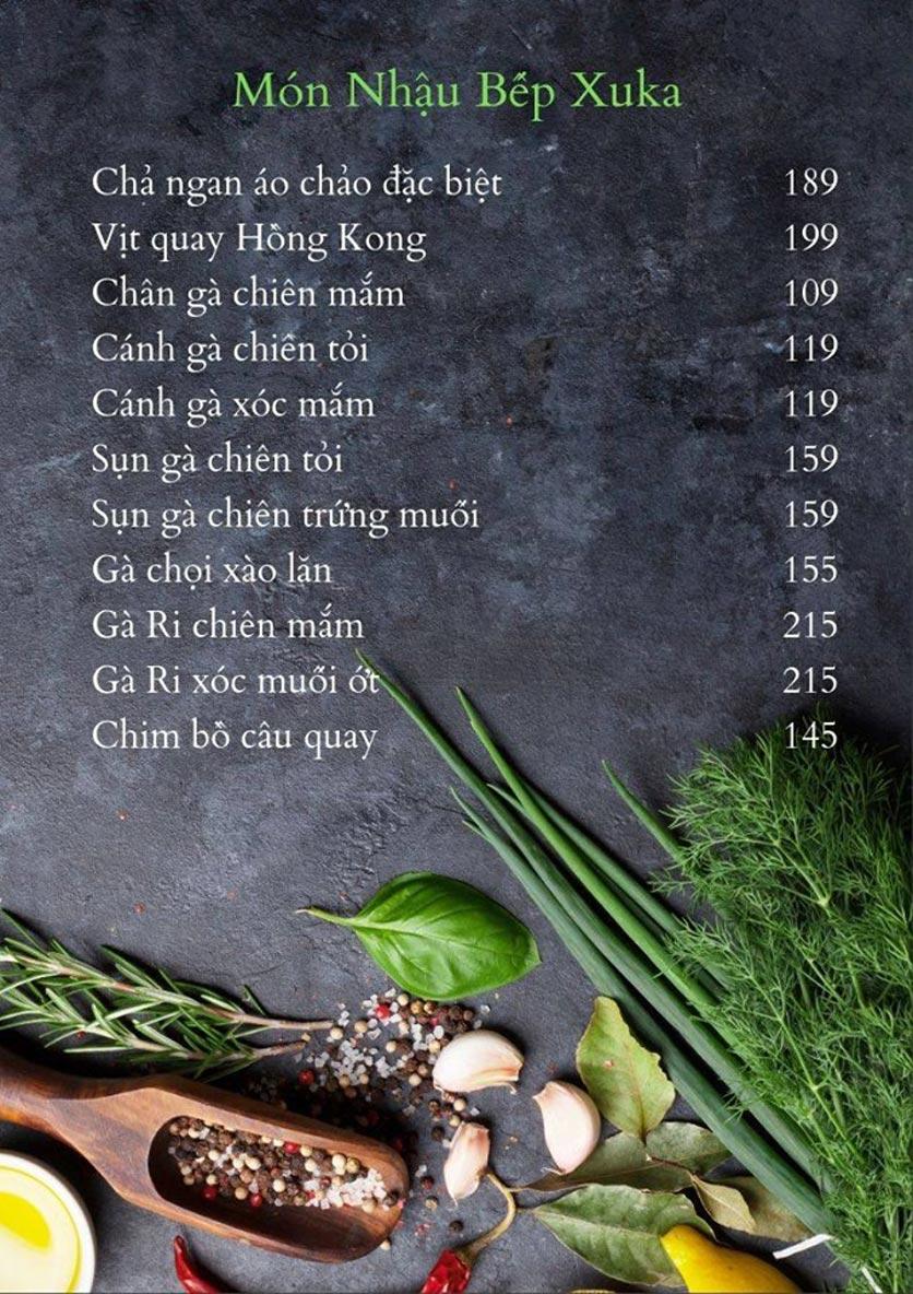 Menu Bếp Xuka - Hoàng Ngân 4