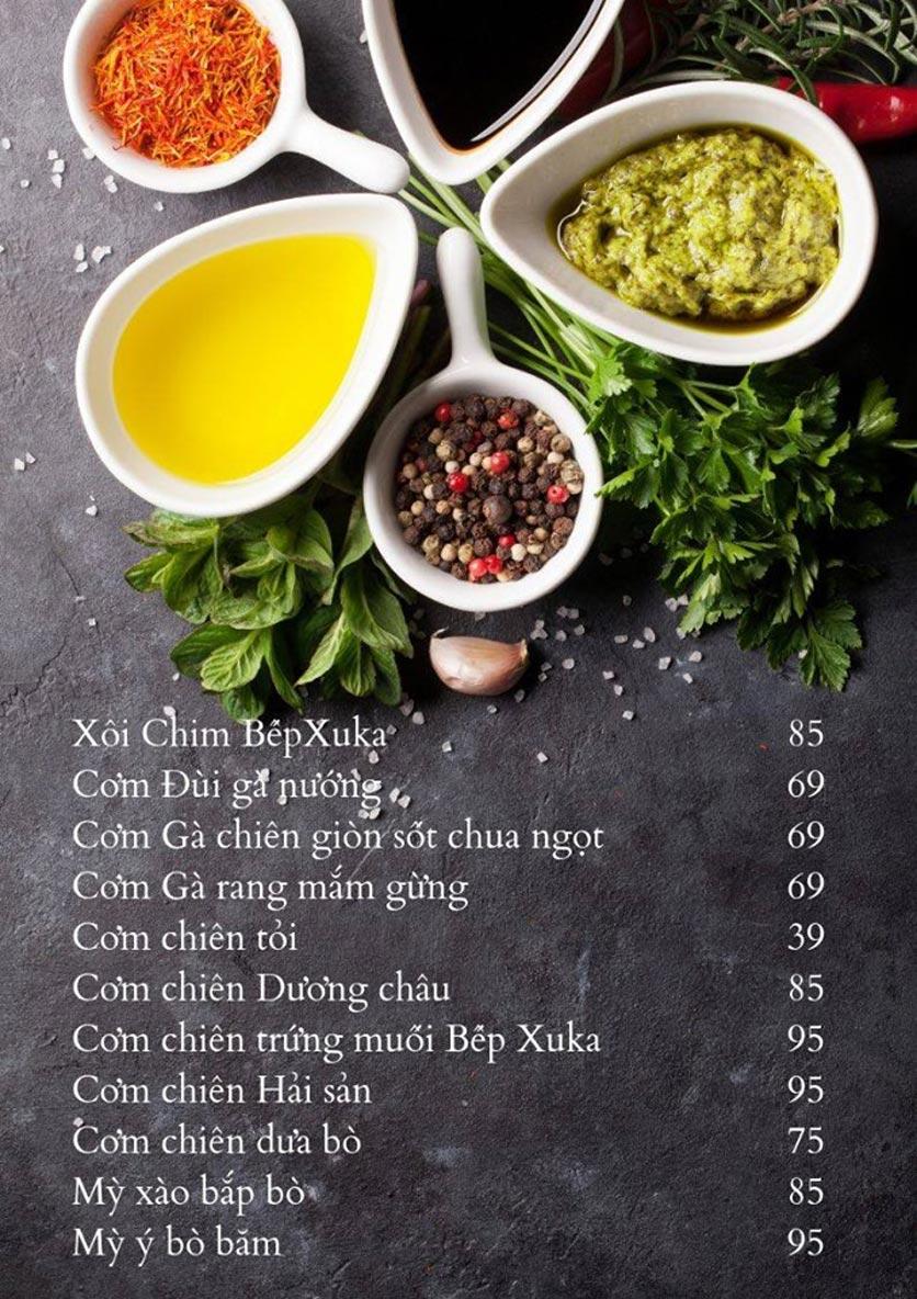 Menu Bếp Xuka - Hoàng Ngân 6