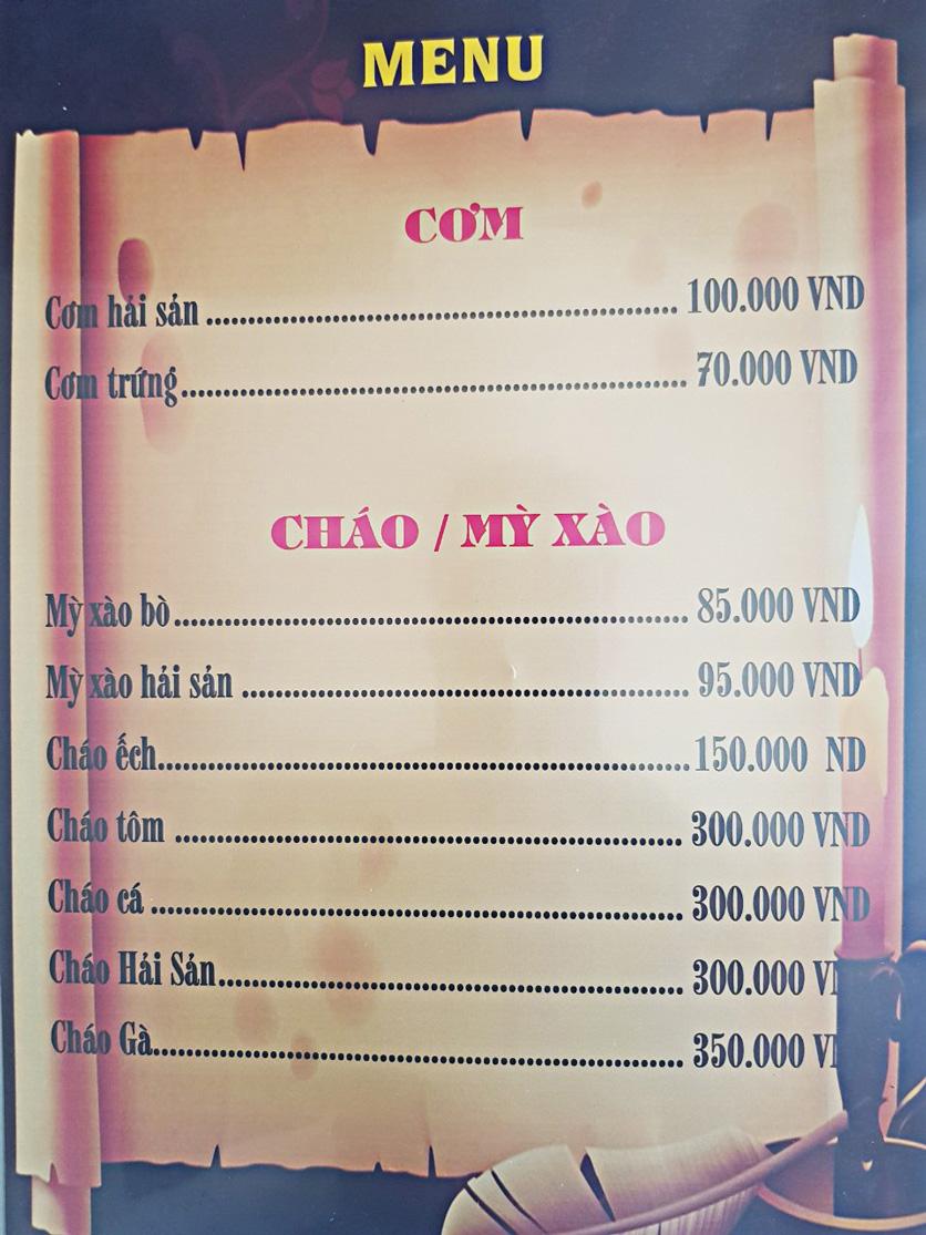 Menu Bia Tô Lão Đại 2 - Võ Văn Kiệt 10