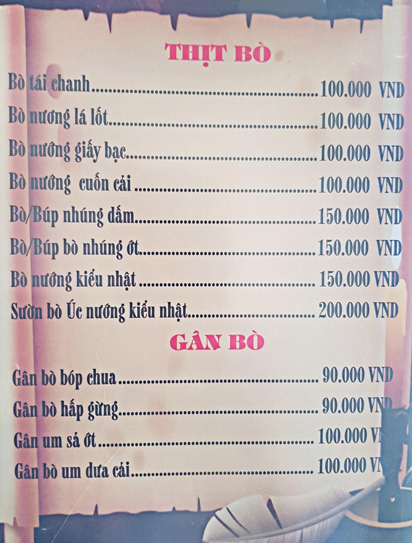 Menu Bia Tô Lão Đại 2 - Võ Văn Kiệt 13