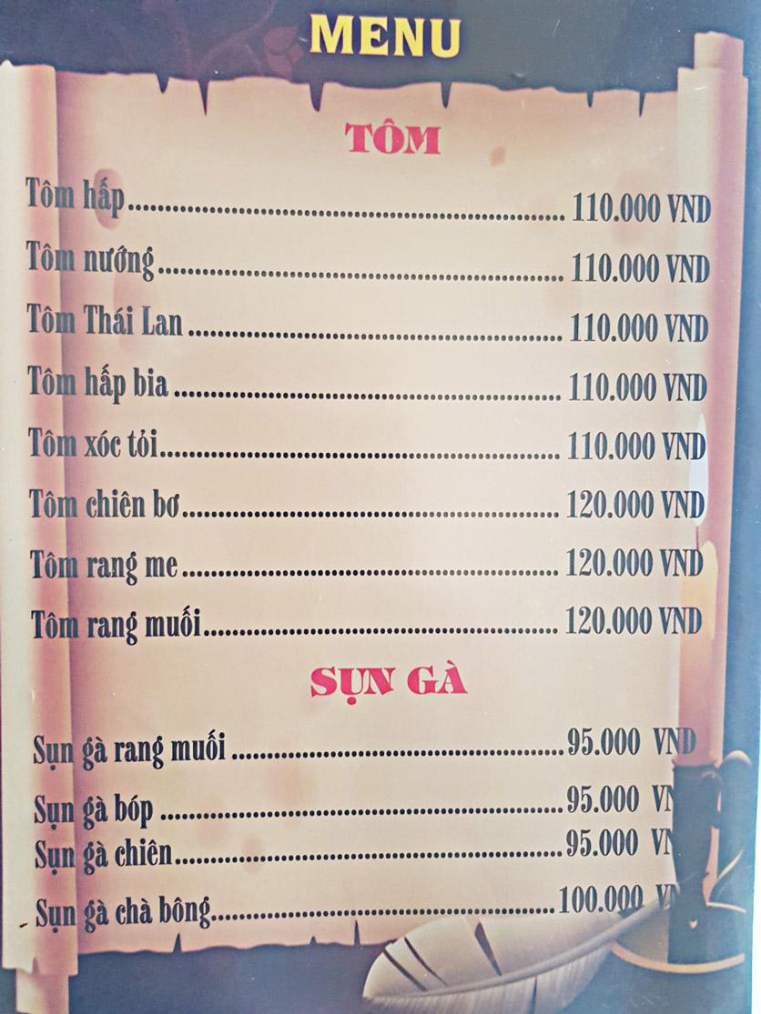 Menu Bia Tô Lão Đại 2 - Võ Văn Kiệt 15