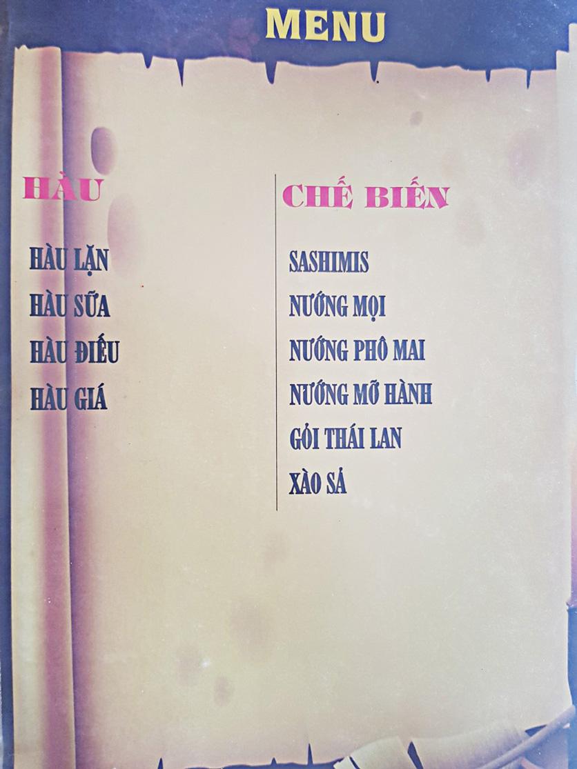 Menu Bia Tô Lão Đại 2 - Võ Văn Kiệt 3