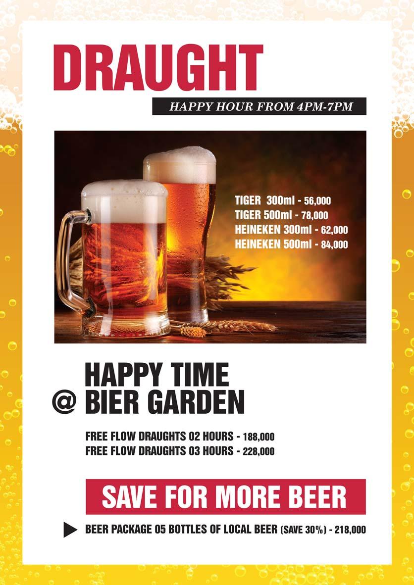 Menu Bier Garden  - Đồng Khởi 22