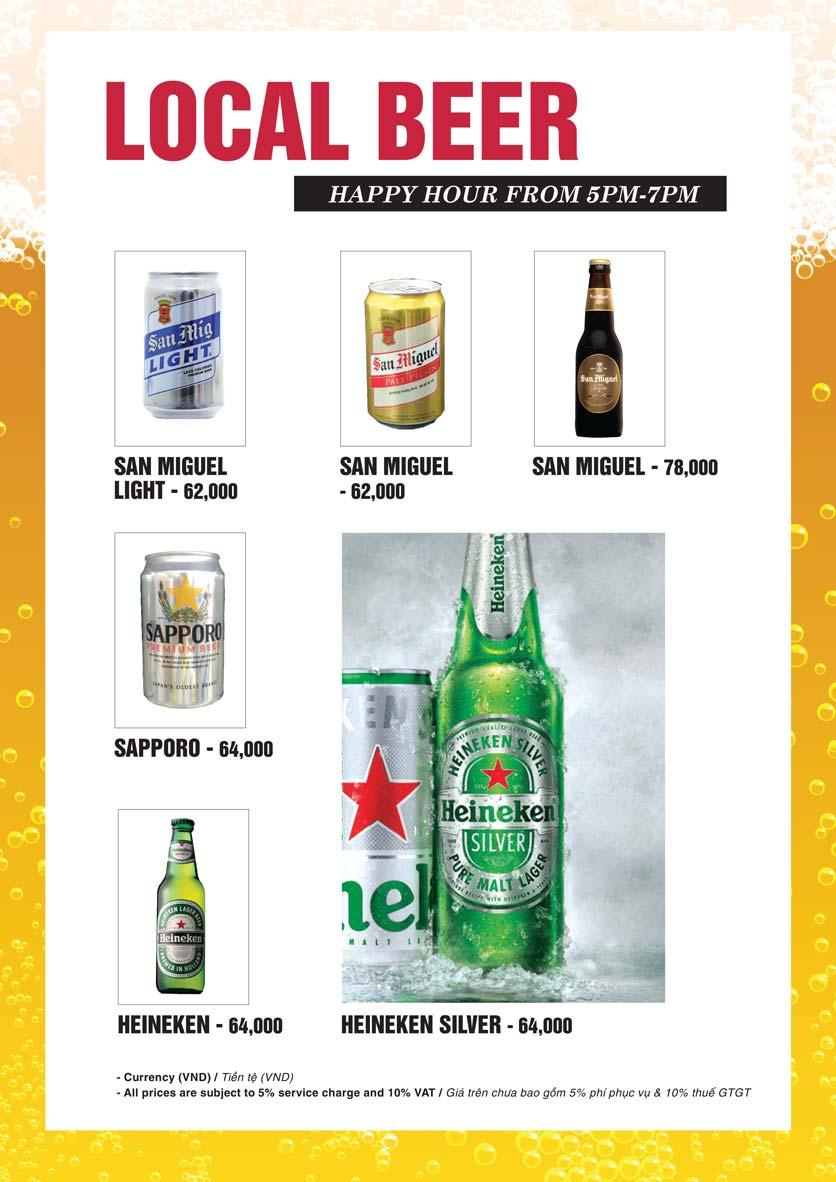 Menu Bier Garden  - Đồng Khởi 24