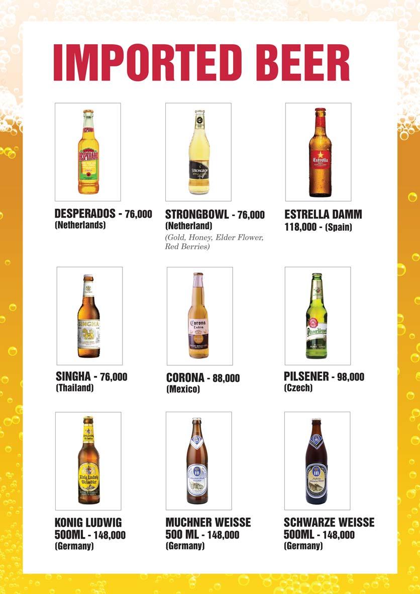 Menu Bier Garden  - Đồng Khởi 26