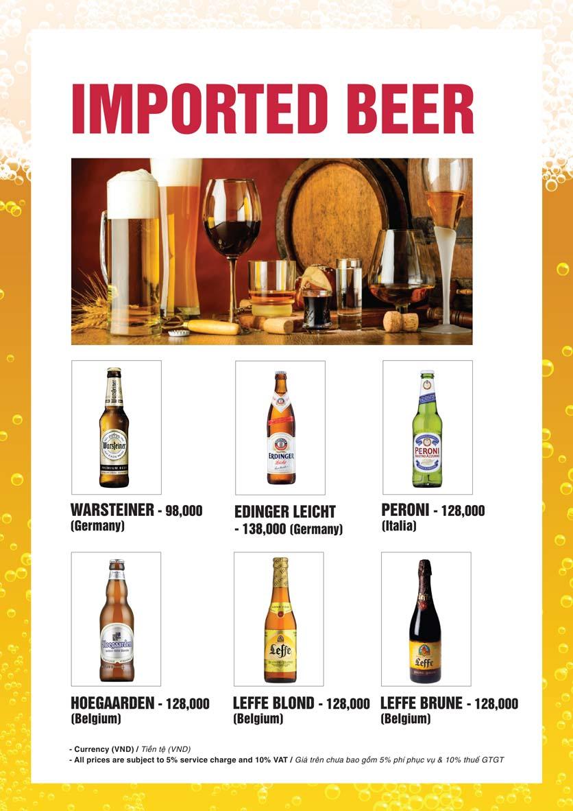 Menu Bier Garden  - Đồng Khởi 27