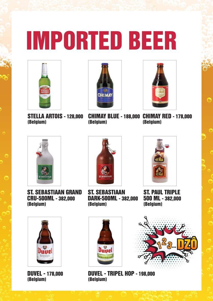 Menu Bier Garden  - Đồng Khởi 28