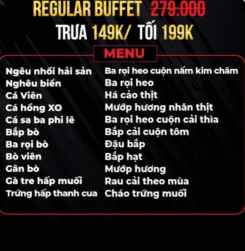 Menu Big Pig BBQ & Beer - Trường Sơn 1