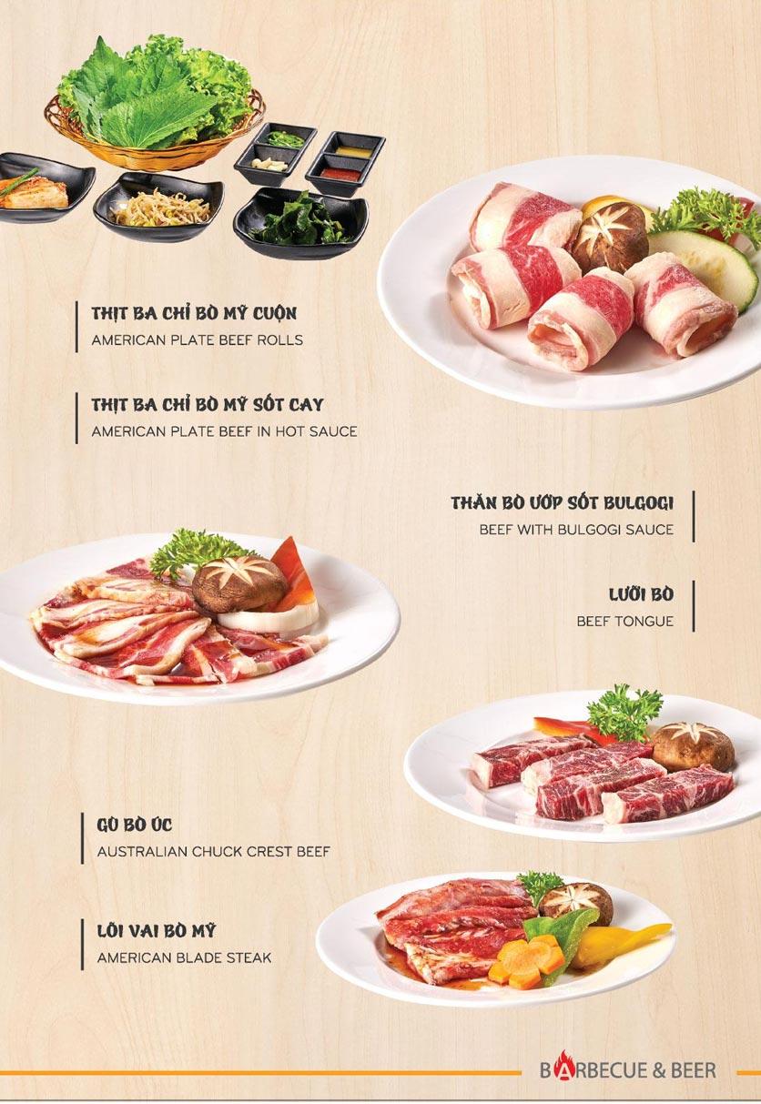 Menu Blue - Nướng & Lẩu Hàn Quốc - Hoàng Văn Thụ 2