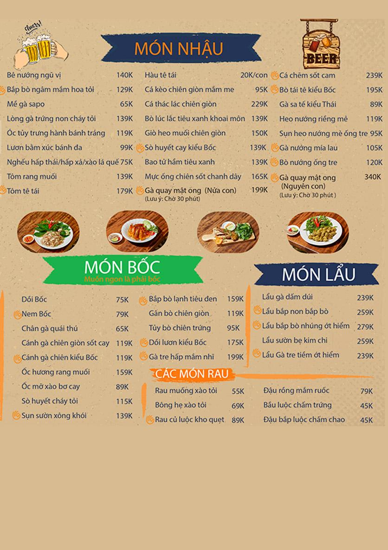 Menu Bốc Food & Beer Garden - Ung Văn Khiêm 2