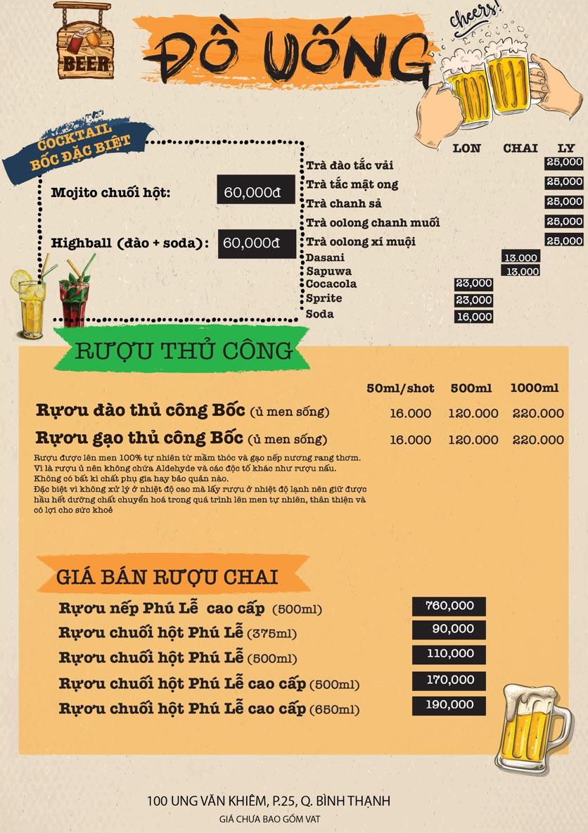Menu Bốc Food & Beer Garden - Ung Văn Khiêm 7