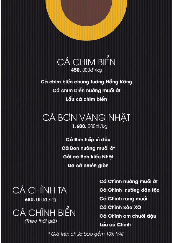 Menu Boong Restaurant – Nguyên Hồng 11