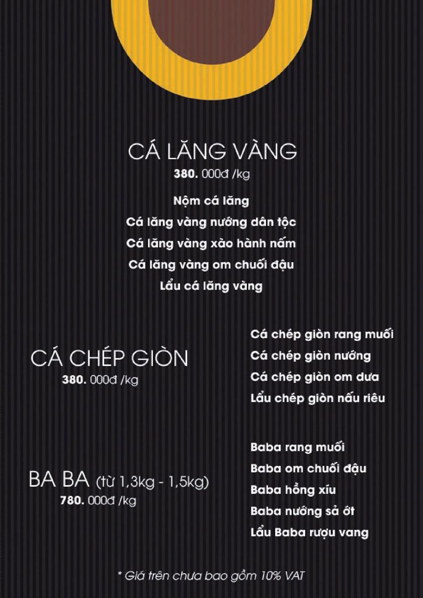 Menu Boong Restaurant – Nguyên Hồng 12