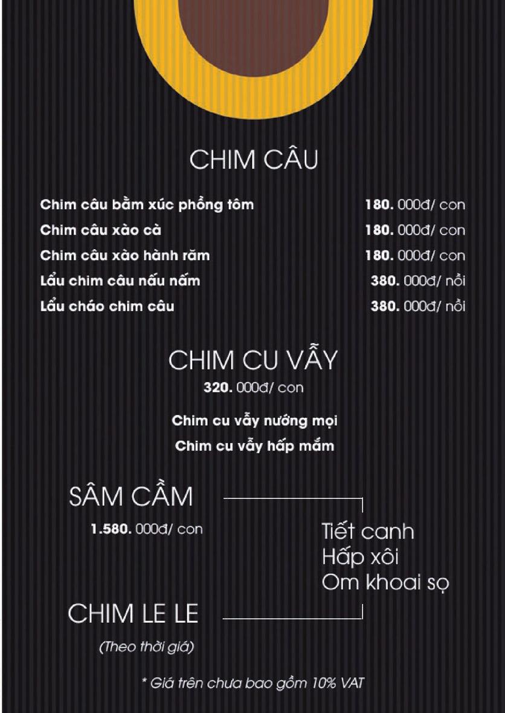 Menu Boong Restaurant – Nguyên Hồng 4