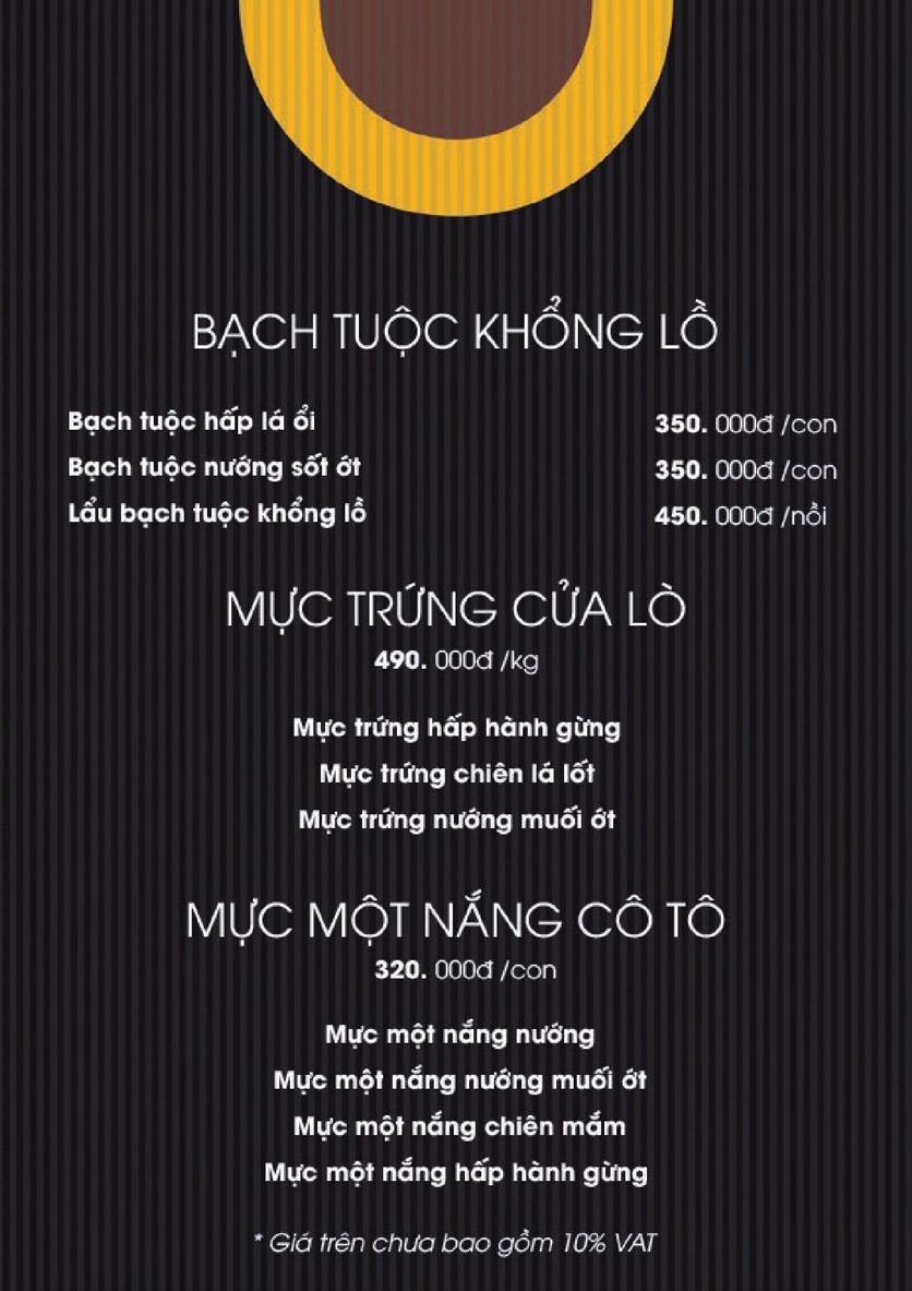 Menu Boong Restaurant – Nguyên Hồng 8