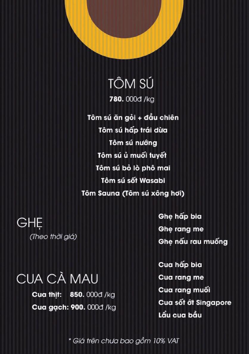 Menu Boong Restaurant – Nguyên Hồng 9
