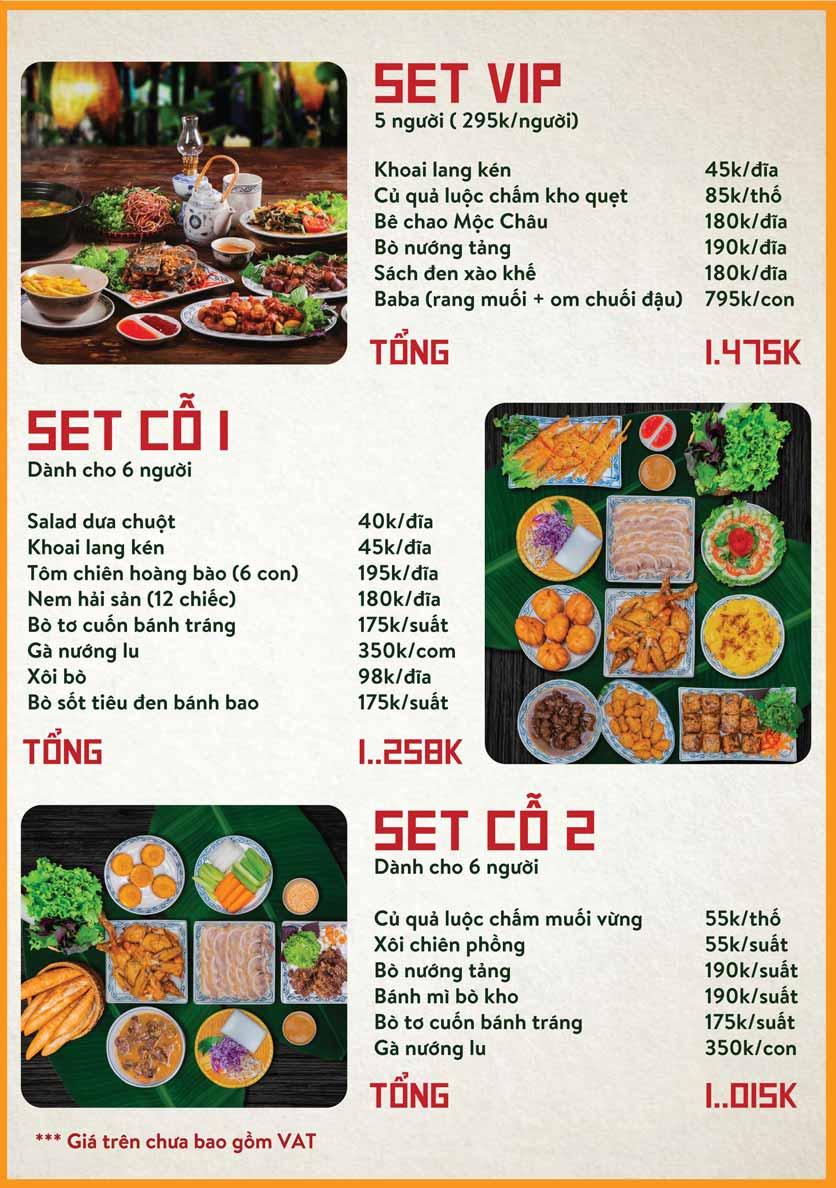 Menu Bò Tơ Quán Mộc - Nguyễn Thị Định 2