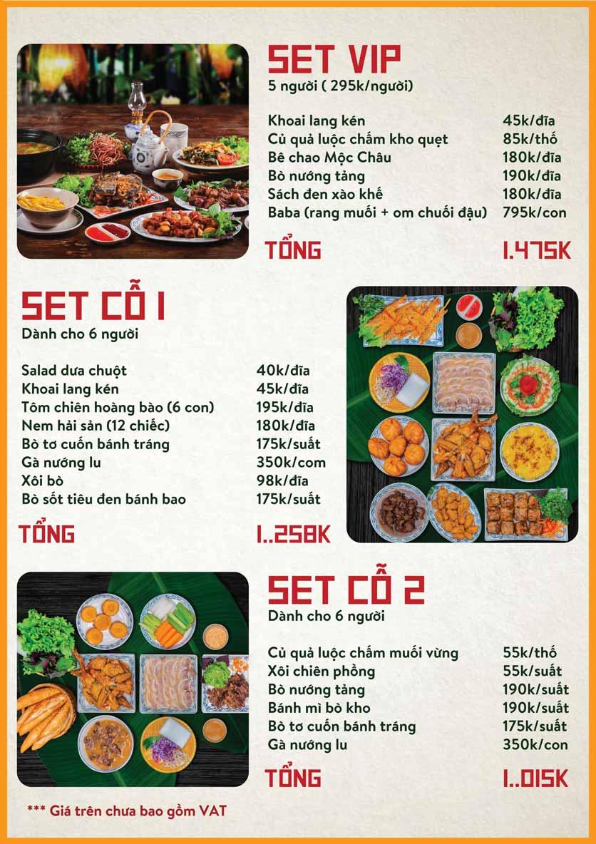 Menu Bò Tơ Quán Mộc - Nguyễn Thị Định 4