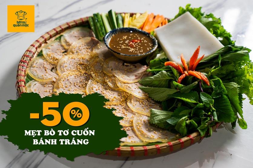 Menu Bò Tơ Quán Mộc - Nguyễn Thị Định 1