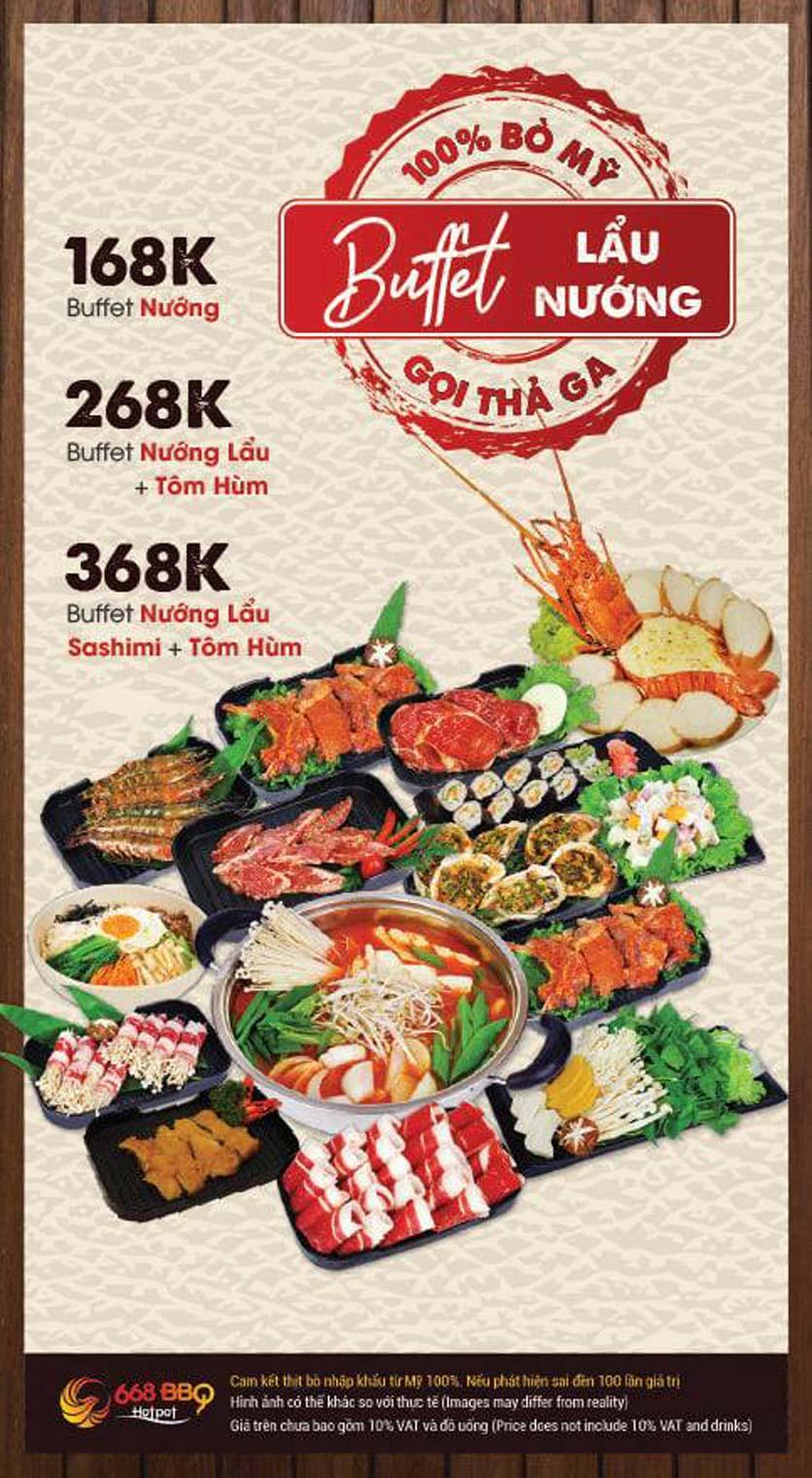 Menu 668 BBQ & hotpot - Lê Văn Lương 1