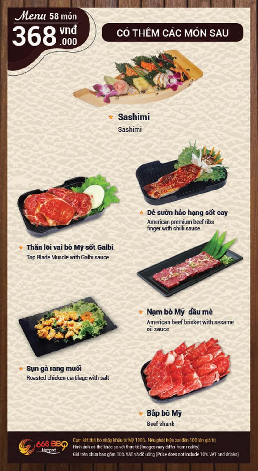 Menu 668 BBQ & hotpot - Lê Văn Lương 10