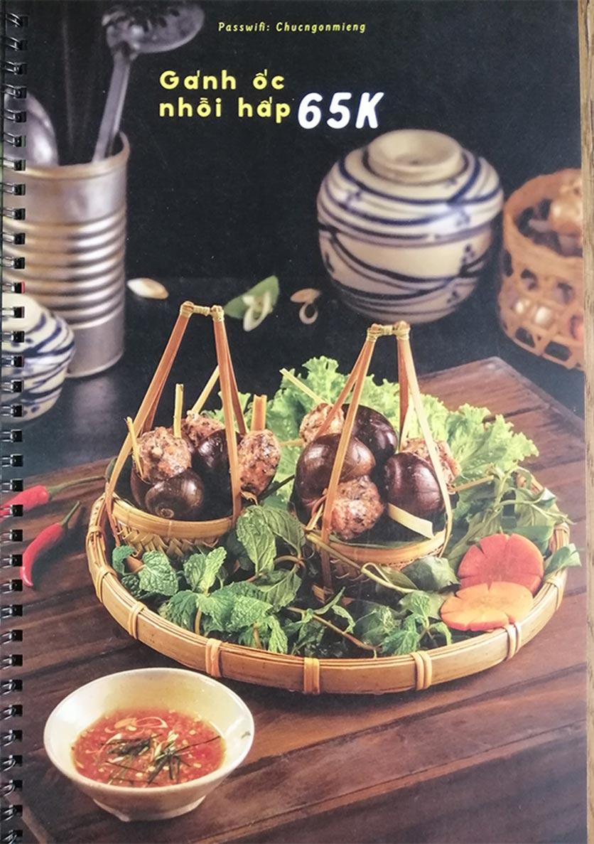 Menu Bún Đậu Cô Tư - Quang Trung 3