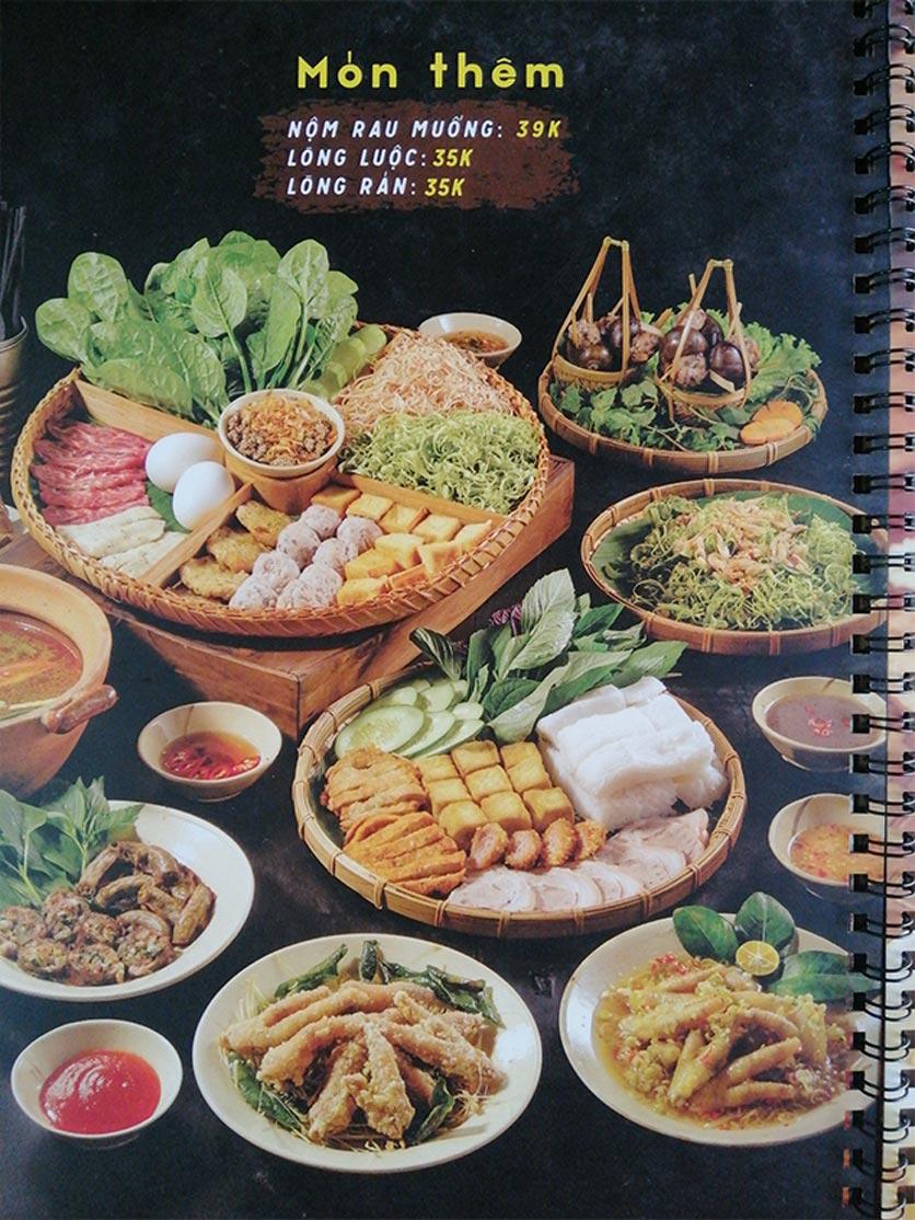 Menu Bún Đậu Cô Tư - Quang Trung 6